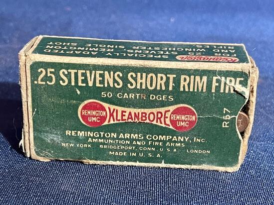 REMINGTON UMC .25 STEVENS SHORT RIMFIRE