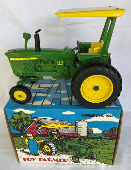 JOHN DEERE 4010 DIESEL - w/ ROPS - TOY FARMER 1993 NATIONAL FARM TOY SHOW COLLECTORS EDITION