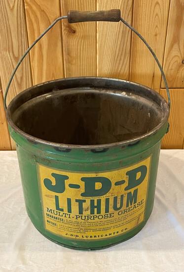 J-D-D LITHIUM GREASE BUCKET - E.J. BURBACH - RANDOLPH, NEBRASKA