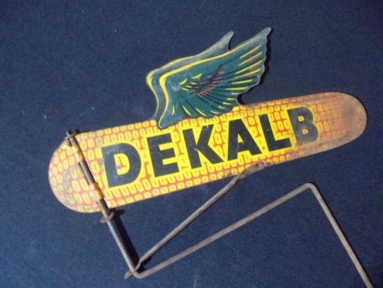 """THE OLD FAMOUS """"DEKALB WINGED SEED CORN SIGN""""-SOME LIGHT WEAR"""