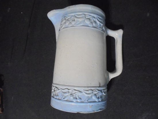 """OLD RED WING """"CHERRY BAND"""" PITCHER-SOME CRACKS"""