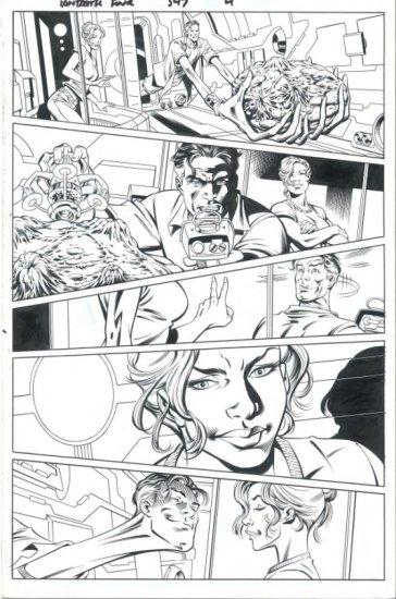 Fantastic Four # 547 Page 4 by Paul Pelletier