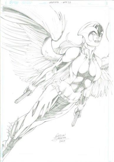 Hawk Girl by Gledson Barretto
