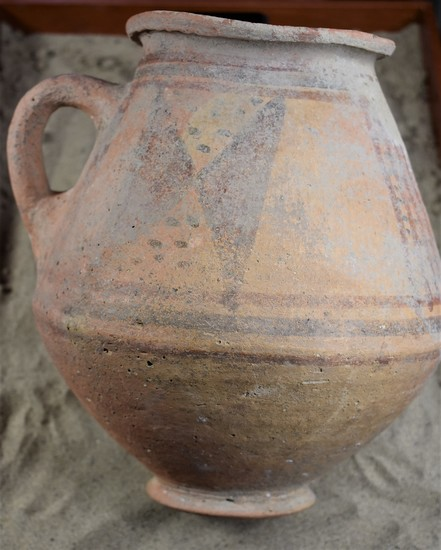 Middle Bronze I Age Bi-Conical, Polychrome Pitcher