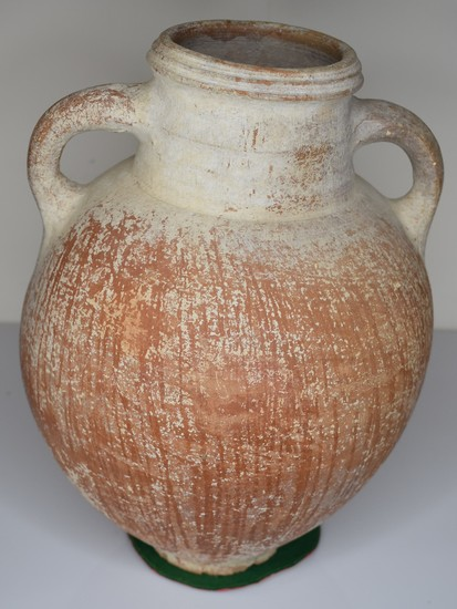 Iron Age 2 Handle Jar w/ Red Slip