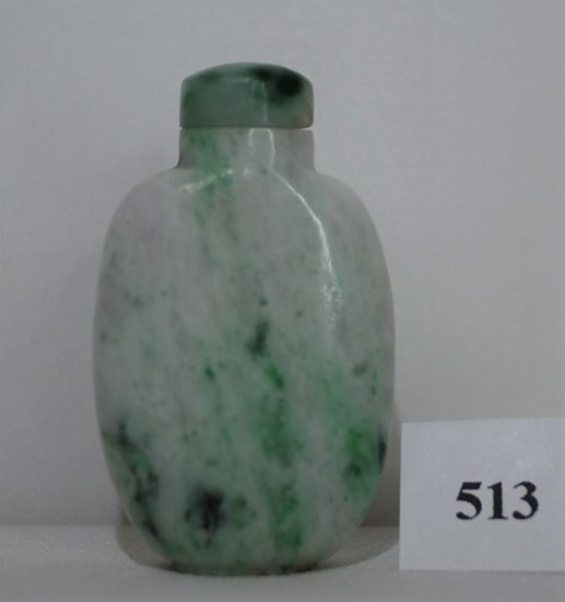 Chinese Green & Grey Jade Snuff Bottle