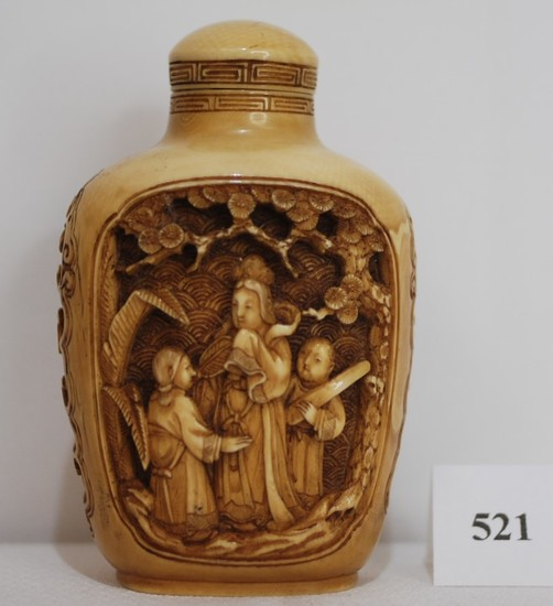Ivory Snuff Bottle Ch'ien Lung Marked