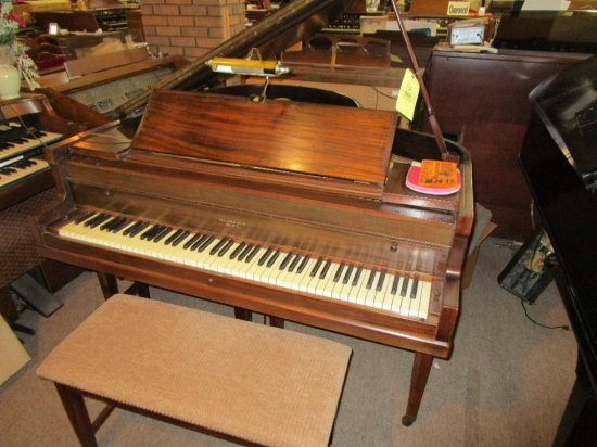 BramBach Baby Grand Style Piano with bench