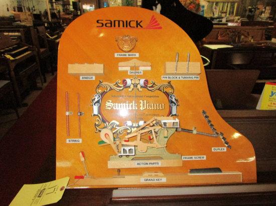 Samick Piano Advertisement Display