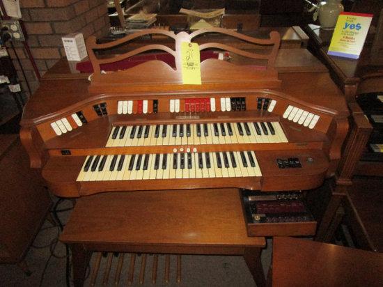 Baldwin electric organ with bench