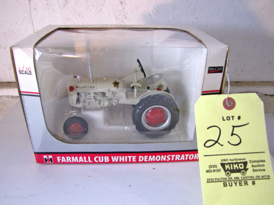 Mid Century 1950 Farmall Cub White Demonstrator Tractor