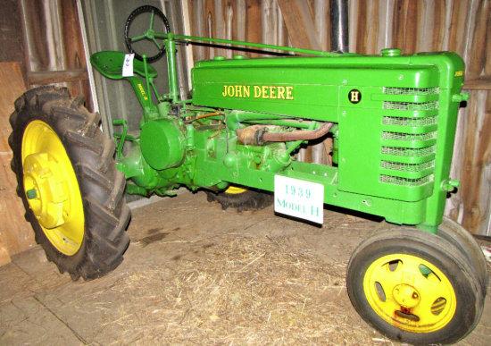 """John Deere """"H"""" Model Tractor"""