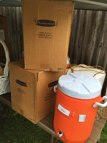 (5) Rubbermaid Water Coolers