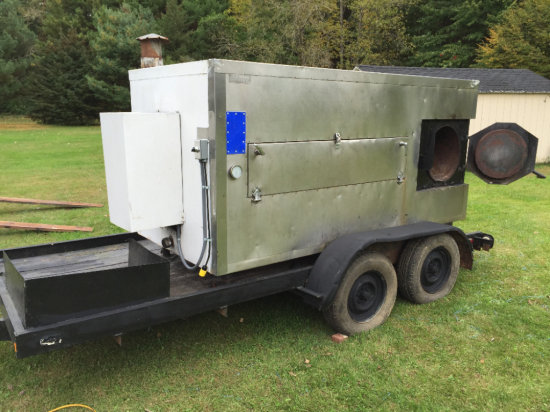 Southern Pride cooker with 14ft tandem axle trailer