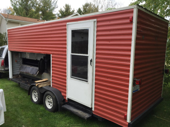 Southern Pride Cooker/Smoker and Enclosed Kitchen with 20ft tandem axle trailer
