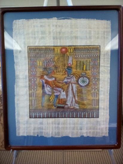 Egyptian on papyrus