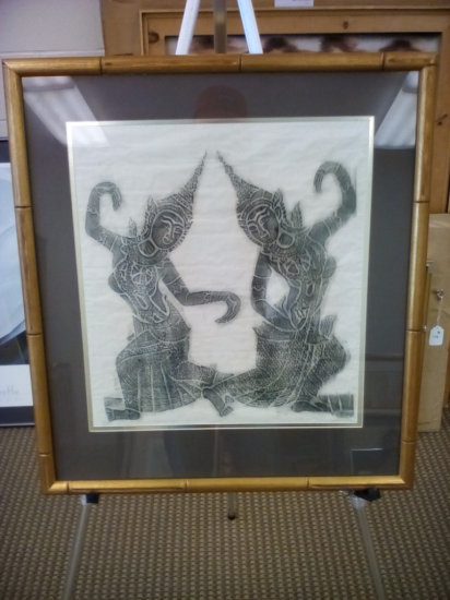 Indian art on cloth