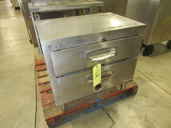 Stainless Steel 2 Drawer Bun Warmer