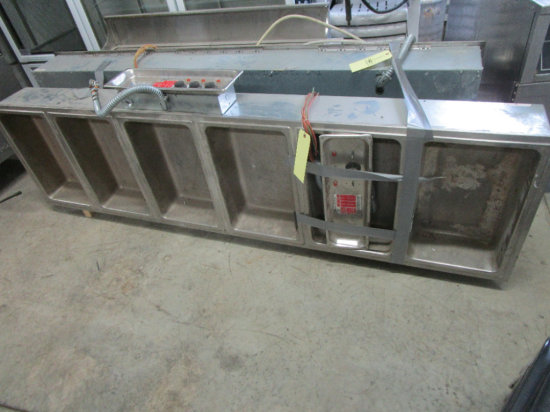Stainless Steel Heated Drop-in Buffet Table