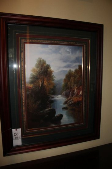 """""""Afternoon On Sheep Hill"""" 12/96 Framed Art"""