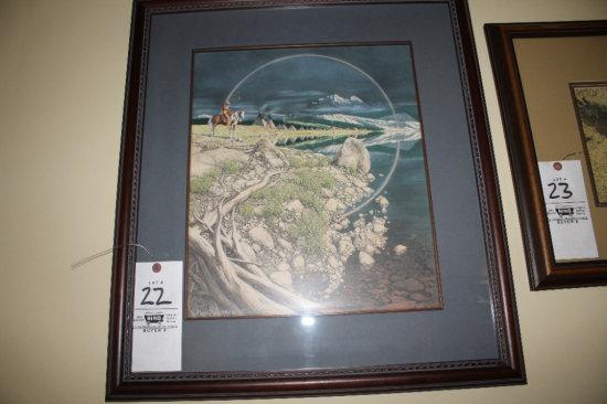 "Bev Doolittle 10349/35000 ""The Sentinel"" Framed Art"