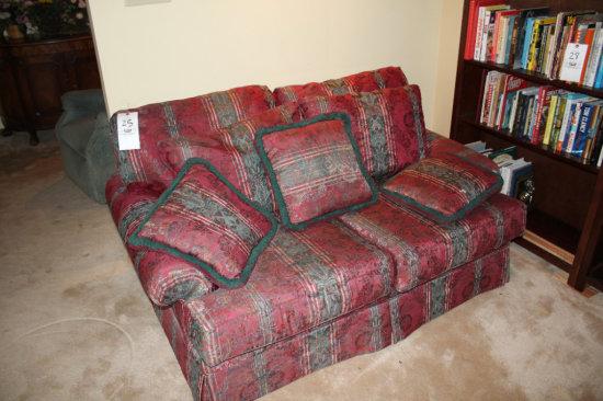 2 Cushion Alexvale Loveseat and Throw Pillows