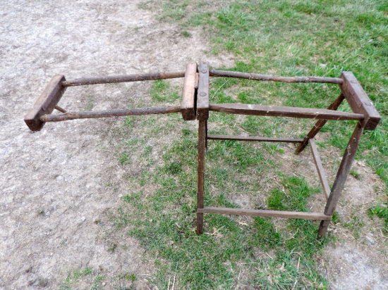 Antique Stretching Frame/Rack for Leather Or Wool