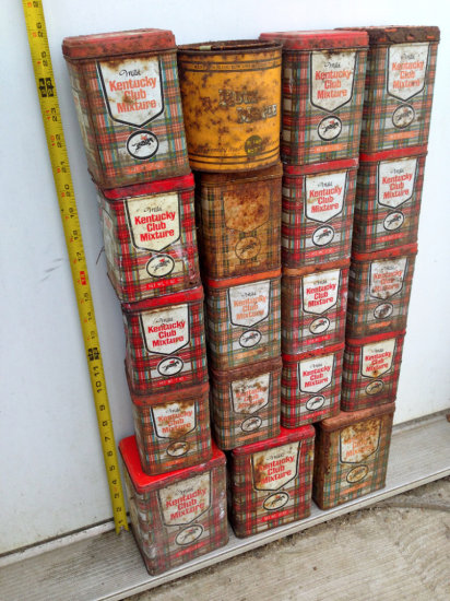 Kentucky Club Tobacco Tins, Rum Mable and Moor Man's Plastic Adv. Cups