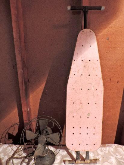 Antique Eskimo Fan and Child's Size Iron Board