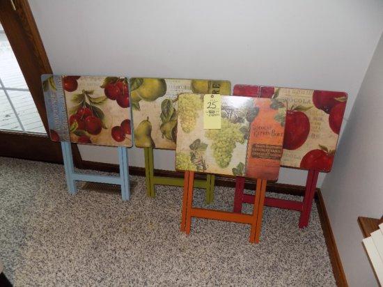 Set of (4) TV trays