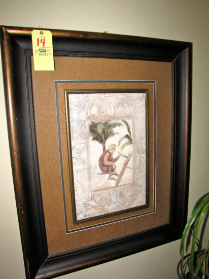 """Monkey picture - 45""""tall x 39""""wide"""