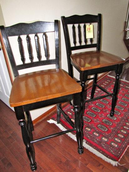"Pair 30"" bar stools"