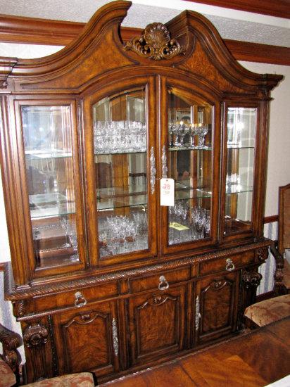 Ashley Casa Mollino Collection ornate break front china