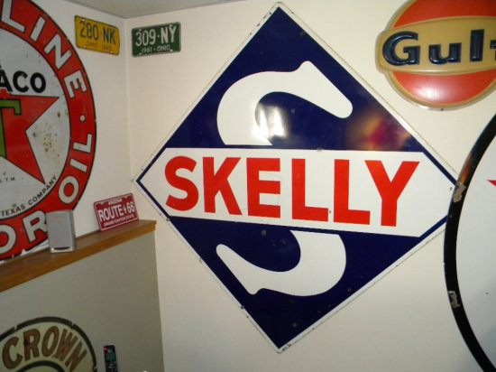 """Skelly Diamond-Shaped Sign, marked PS 55, 66"""" H x 68""""W"""