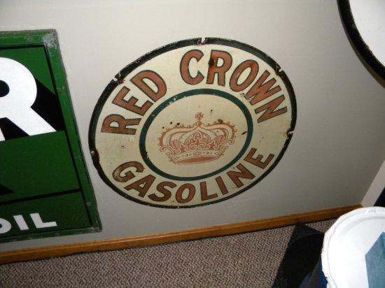"""Red Crown Gasoline 30"""" Round Sign"""