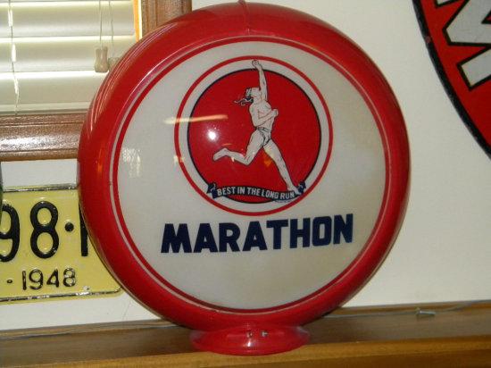 Marathon Lens Gas Pump Globe
