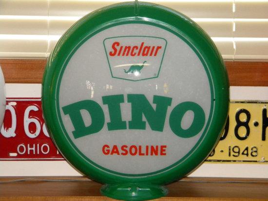 Sinclair Dino Gasoline Lens Globe