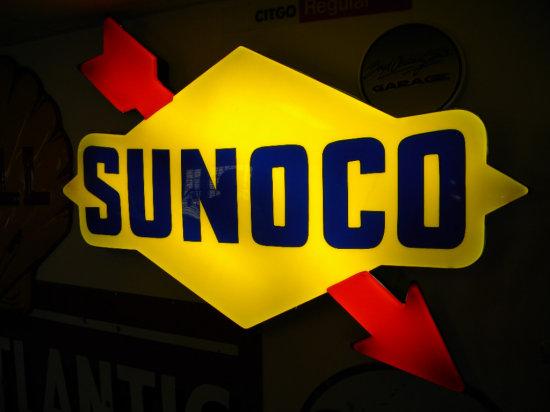 "Sunoco Lighted Plastic Sign 46""H x 61""W"