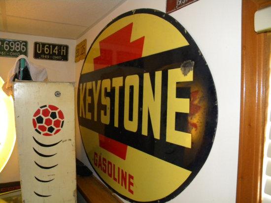 "Keystone Oval Double-Sided Porcelain 60""W x 40"" H Sign"