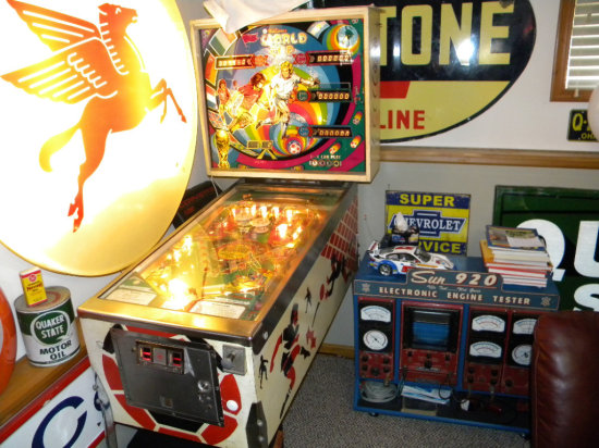 Williams World Cup Pinball Machine, 1 to 4 players, works, quarter bypass switch, copyright 1978