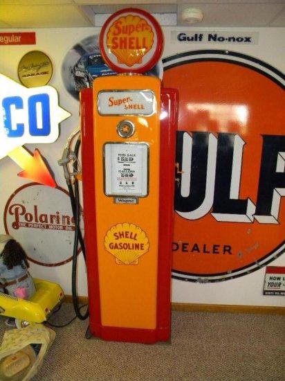 Super Shell Wayne Gasoline Pump, Fully Restored