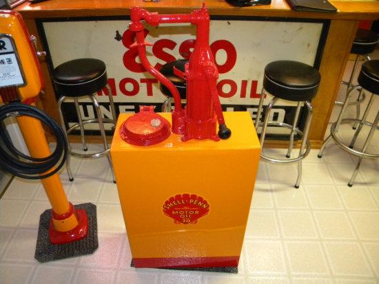 Shell Penn Motor Oil Dispenser, Restored
