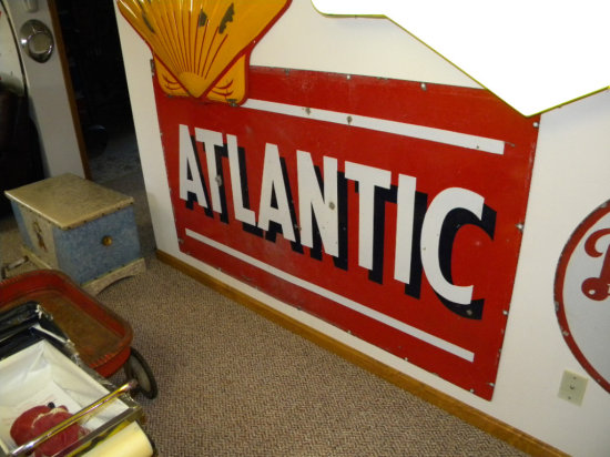 """Atlantic Porcelain Double-Sided Sign, 6' H x 42"""" W"""