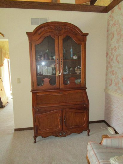 Drop Front Secretary with Book Case Top