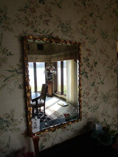 "26""x40"" Gold Frame Mirror"