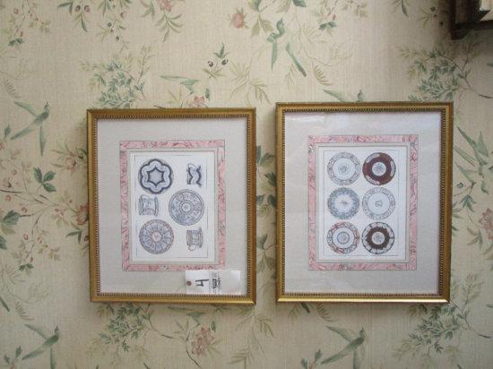 2 Decorative Tea Set Prints