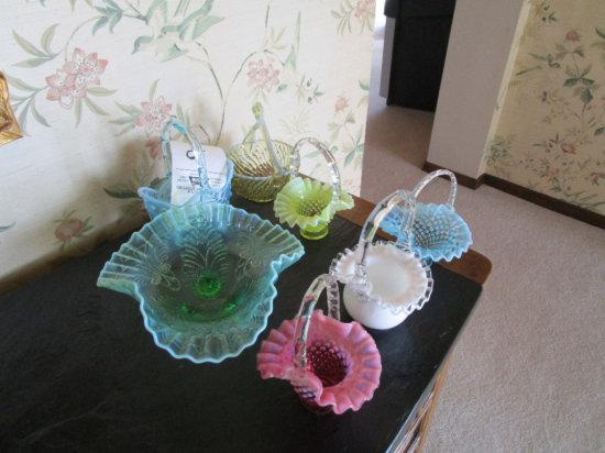 Assorted Glass Baskets