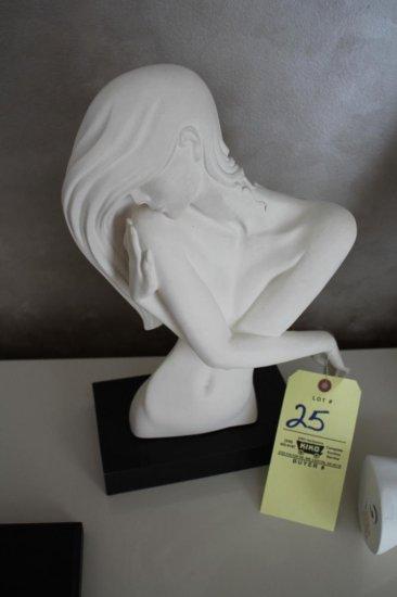 """Nude Female Torso Art """"Austin Sculpture"""" 18"""""""