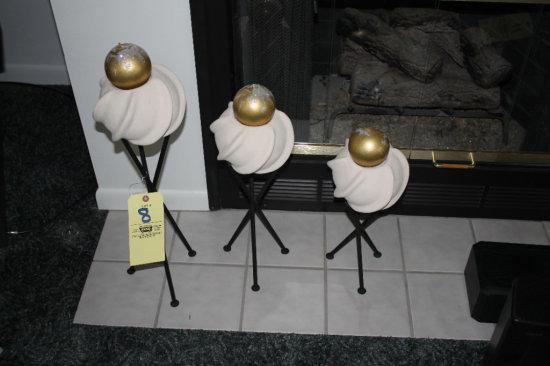 3pc Decorative Wrought-Iron Art