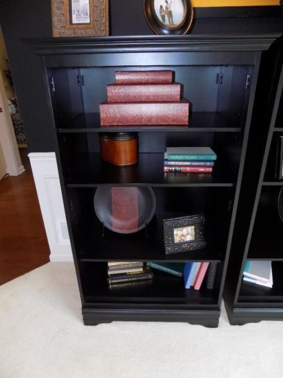 Black finish bookcase